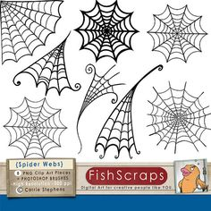 Spider Web ClipArt - Halloween Clip Art - Png Digital Stamps & Photoshop Brushes - Spider Mant - Boy Birthday Party Graphics - Invitations