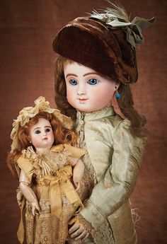 At Play in a Field of Dolls Saturday, October 04, 2014  |  11:00 AM Pacific French Bisque Bebe, Figure C, with Gentle Smiling Expression by Jules Steiner 3500/4500