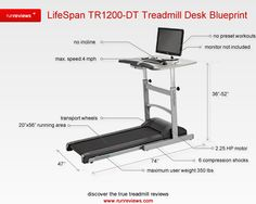 LifeSpan TR 1200 Treadmill desk review - http://www.runreviews.com/lifespan-treadmills/lifespan-tr1200-dt-treadmill-desk-review/