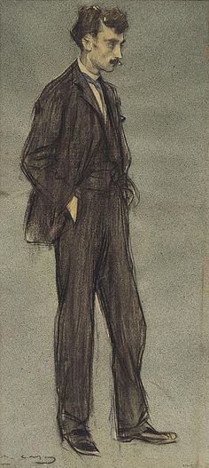 Portrait Of Ignasi Iglesias Ramon Casas