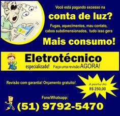 Pagando excesso conta de luz, energia alta; energia elétrica subiu; eletricista Porto alegre; #eletricistaportoalegre; #contadeluzalta; #energiasubiu