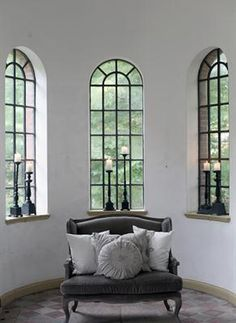 Two faux window mirrors?