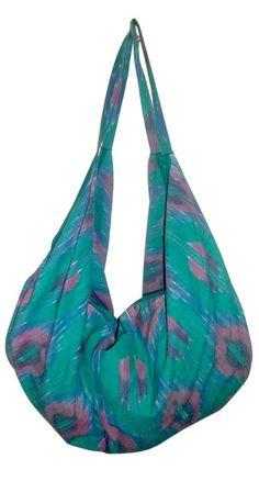 Turquoise/Pink Fair Trade Bengali Bag.