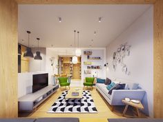 Funky Modern Interior with Natural Accents & Geometric Decor