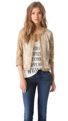 Haute Hippie Sequin Threadwork Jacket