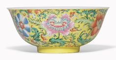 A famille rose yellow-ground bowl. Daoguang seal mark in underglaze blue and of. 7 38 in. (18.7 cm.) diam.. Estimate £15,000-25,000. This work is offered in Inspired Themes A Fine Selection of Chinese Works of Art on 10 May at Christie's in London
