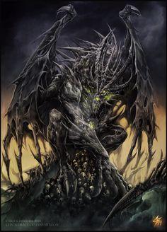 Necrotic Dragon Elder by Chaos-Draco.deviantart.com on @DeviantArt
