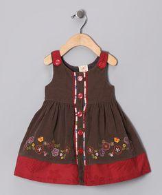 Olive Stitch Corduroy Dress