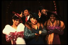 "D. Allen, K. Page, A. McQueen, A. Weeks and A. Sommers in a scene from the Broadway production of the musical ""Ain't Misbehavin'."" (1978)"