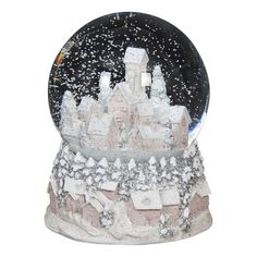 Snow Globe Village Scene