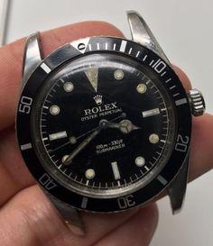 "1957 Vintage Rolex Submariner ref. 6536-1 ""No Crown Guard GILT Dial"" | eBay"