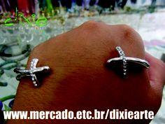 Pulseira de Mão Crucifixo    www.mercado.etc.br/dixiearte