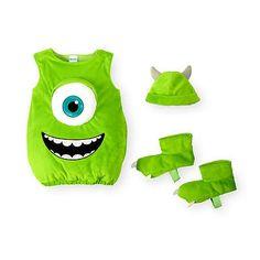 Disney Boys' 3 Piece Green Monsters, Inc. Mike Wazowski Halloween Costume with H