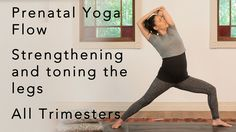 A strong but safe 30-minute yoga flow sequence that is perfect for building strength and maintaining tone in your legs throughout your pregnancy. Starts with...