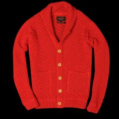 Coloured cardi for winter.