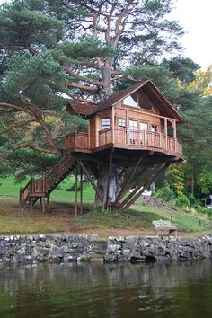 Treehouse Lodge, Loch Goil, Scotland | Photo by treehousecompany, via Flickr