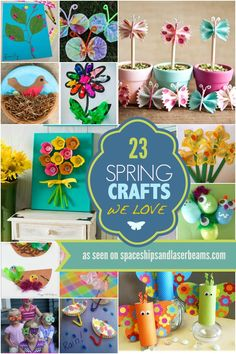 Had enough of winter? Welcome fresh colors with these fun spring craft ideas for kids.
