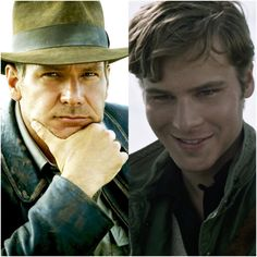 Harrison Ford and Anthony Ingruber by @savannahileese
