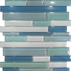 ⚓10SF Blue Random Linear Glass Mosaic Tile Backsplash Kitchen Sink Wall Faucet | eBay