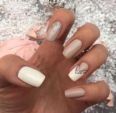 beige-and-white-nails via …