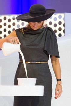 Dutch Queen Maxima opens the Friesland Campina Innovation Centre in  Wageningen, The Netherlands. The centre of the Dutch dairy company includes around 18,000sqm of laboratories, test areas and a pilot plant, 16.10.13