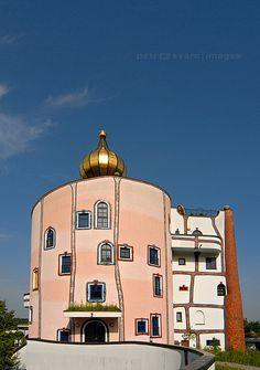 Friedensreich Hundertwasser :: Eccentric Architecture of Rogner Thermal Spa and Hotel in Bad Blumau