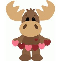 Silhouette Design Store - browse-daily-and-clearance Valentine Images, Valentine Crafts, Holiday Crafts, Valentines, Moose Clipart, Valentine Drawing, Moose Crafts, Silhouette Online Store, Punch Art