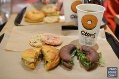 A tester : Stanz, le restaurant de bagels comme à New York. 56 rue Lafayette. Lundi au vendredi de 09h00 à 20h30 et le samedi de 10h à 19h