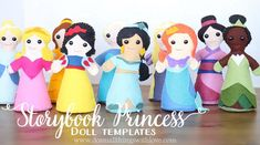 Storybook Princess Doll Template--what girl wouldn't want these?!?!?