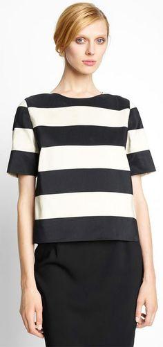 Lanvin Stripe Cotton Top via Nordstrom.