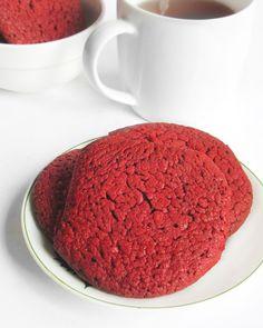 Chewy red velvet cookies #recipe