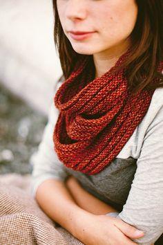 ARBUTUS // cowl tiered horizontal ribbing welted knitting pattern PDF