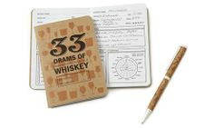 A perfect gift for the seasoned (or emerging) whiskey connoisseur, this tasting journal allows the drinker to document and rate the flavor profiles of 30 different varieties.