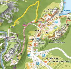 Hohenschwangau Village visitor info-Royal Castles of Neuschwanstein and Hohenschwangau, and the Museum of the Bavarian kings