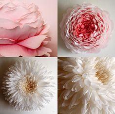 Fleurs de papier géantes par Tiffanie Turner - Chambre237