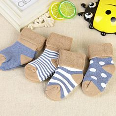 Big promotion at 11.11>>Find More Socks Information about Fashion Striped Cotton Socks For 0 3 Years Baby Girls Boys Socks 4 pairs/lot Kids Clothes Accessories Winter Meias,High Quality cotton socks men,China cotton nylon socks Suppliers, Cheap sock pack from Lazy Miao Grocery Store on Aliexpress.com