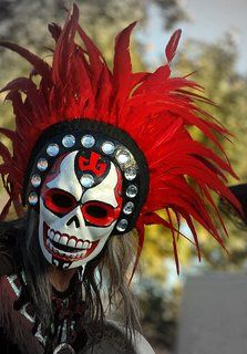 This is an example of a type of mask that would be used on the Day of the Dead in Mexico.