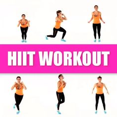 hiit workout,hiit workout at gym, hiit workout at home Total body at home workout. No equipment need for this fat burning HIIT workout routine. Hiit Workout Videos, Fitness Workouts, 20 Minute Hiit Workout, Hiit Workouts For Beginners, Hiit Workout At Home, Sport Fitness, Body Fitness, Fun Workouts, At Home Workouts