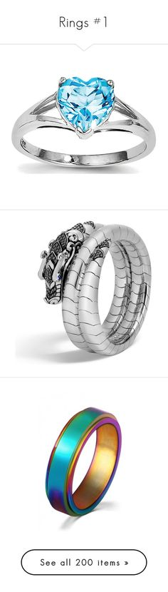 """""""Rings #1"""" by dragonheartse on Polyvore featuring jewelry, rings, heart jewellery, sterling silver heart shaped rings, sterling silver jewelry, heart rings, rhodium jewelry, bracelets, spinel jewelry and john hardy jewellery"""