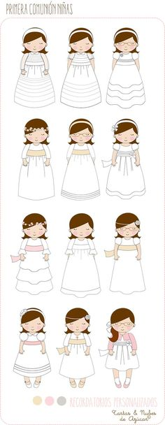 Première Communion, First Holy Communion, Toddler Drawing, Ideas Para Fiestas, Fiesta Party, Cute Illustration, Scrapbook Cards, Paper Dolls, Christening