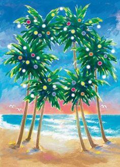 Palm Wreath by Margo Goodwill .Mele Kalikimaka