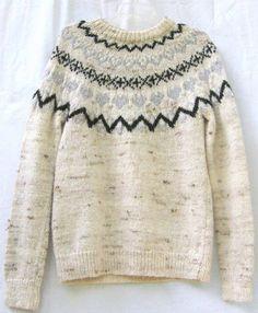 1970s icelandic hand knit wool sweater more fashion atlantic knitting