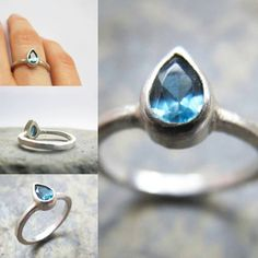 This stone is a pear shaped London Blue Topaz, it is a lovely inky blue in colour!  #pearshapestone #ring #crouchendjeweler #jewelrymaking #bluetopaz #topazring #pearstone #fashion#bespokejewellery #rings #heatherstephens #jewellery  www.etsy.com/uk/listing/255982833/pear-shaped-london-blue-topaz-sterling