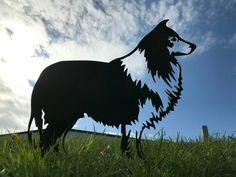 Rough Collie Dog Metal Garden Art Recycled Garden Art, Metal Garden Art, Rough Collie, Collie Dog, Dog Garden, Metal Birds, Japanese Aesthetic, Animal Silhouette, Unique Gardens