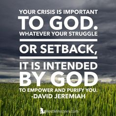 Your crisis is too important to God... #chronicillness