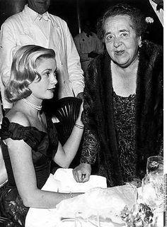 Grace Kelly Elsa Maxwell at Cannes
