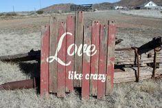 "Rustic Wall Art - ""Love L... - The Trunk Trader | Scott's Marketplace"