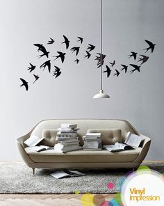 Swallow birds Vinyl Wall Stickers #decor
