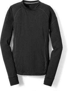 REI Co-op Women's Lightweight Crew Shirt Black L