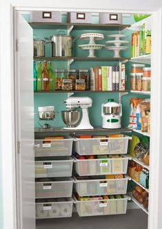 Kitchen organization.